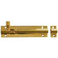 Forge Door Bolt with Brass Finish 100mm