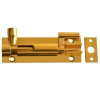 Forge Door Bolt Necked 75mm Brass Finish