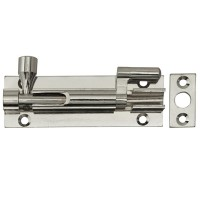 Forge Door Bolt Necked 75mm Chrome Finish