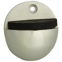 Forge Oval Door Stop 40mm Aluminium Finish
