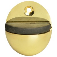 Forge Oval Door Stop 40mm Brass Finish