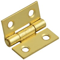 Forge Butt Hinge with Brass Finish 25mm - Pack of 2