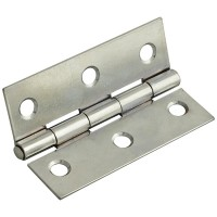Forge Butt Hinge with Polished Chrome Finish 100mm - Pack of 2