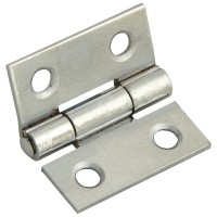 Forge Butt Hinge with Polished Chrome Finish 25mm - Pack of 2