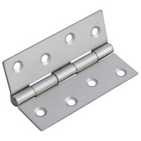 Forge Butt Hinge 100mm Satin Chrome Finish - Pack of 2