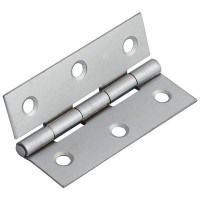 Forge Butt Hinge 75mm Satin Chrome Finish - Pack of 2