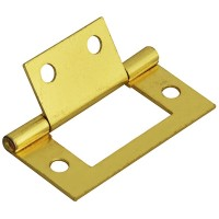 Forge Flush Hinge with Brass Finish 50mm - Pack of 2