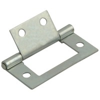 Forge Flush Hinge with Zinc Plated Finish 50mm - Pack of 2