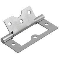 Forge Flush Hinge with Zinc Plated Finish 75mm - Pack of 2