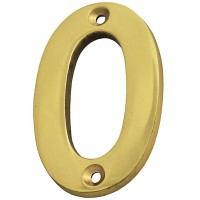 Forge Numeral 75mm Brass Finish No.0