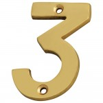 Forge Numeral 75mm Brass Finish No.3