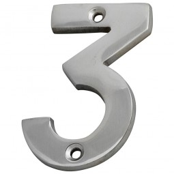 Forge Numeral 75mm Chrome Finish No.