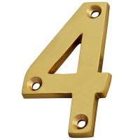 Forge Numeral 75mm Brass Finish No.4