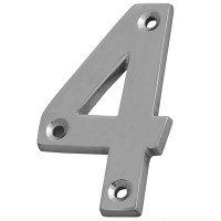 Forge Numeral 75mm Chrome Finish No.4
