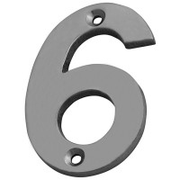 Forge Numeral 75mm Chrome Finish No.6