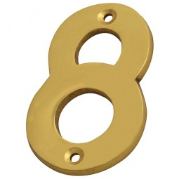 Forge Numeral 75mm Brass Finish No.