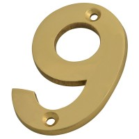 Forge Numeral 75mm Brass Finish No.9