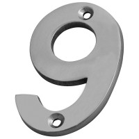 Forge Numeral 75mm Chrome Finish No.9