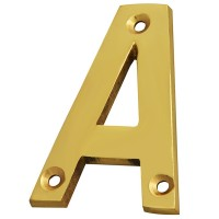 Forge Letter A 75mm Brass Finish