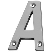 Forge Letter A 75mm Chrome Finish