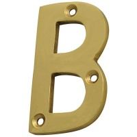 Forge Letter B 75mm Brass Finish