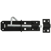 Forge Padlock Bolt 150mm Black Powder Coated Finish