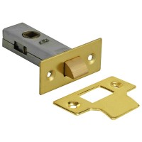 Forge Tabular Mortice Latch 76mm with Brass Finish