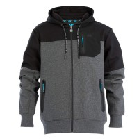 OX Workwear Technical Hoodie Grey and Black Extra Large