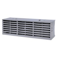 "Rytons Multifix Interlocking Air Brick 9"" x 3"" - Grey"