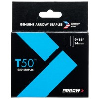 Arrow T50 and T55 Staples 14mm - 1250 Pack