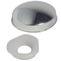 Chrome Plastic Domed Cover Caps 6G-8G - 25 Pack