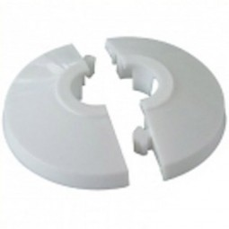 Central Heating Concealed Cover Cap Collar 15mm - 25 Pack