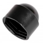 Bolt and Nut Protection Cover Cap Black M6 - 100 Pack
