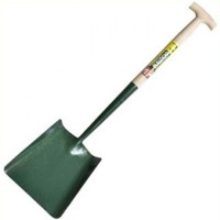 Bulldog 5SM2T No 2 Square Mouth Shovel 10in Width with T Handle 28in