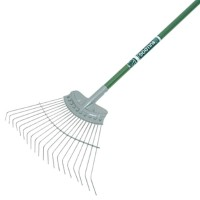 Bulldog Evergreen Lawn Rake 19in Width with Aluminium Shaft 54in