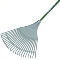 Bulldog Evergreen Plastic Leaf Rake 24in Width Aluminium Shaft 54in