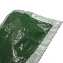 Faithfull Tarpaulin Green and Silver 5.4 Metres x 3.6 Metres