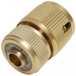 Silverline Brass Auto Stop Quick Connector