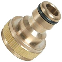 Silverline Brass Tap Connector