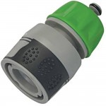 Silverline Soft Grip Hose Quick Connector with Water Stop