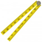 Faithfull Folding Rule Yellow Abs Plastic 1 Metre