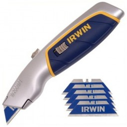 Irwin Pro Touch Retractable Blade Knife 6 Free Blades