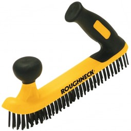 Roughneck Two Handed Soft Grip Wire Brush