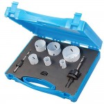 Silverline Plumbers Holesaw Kit Bi-Metal - 9 Piece