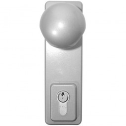 Asec Outside Access Device Knob Operated Silver