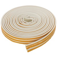 Fixman Self Adhesive P-Profile Draught Weather Strip White 15m