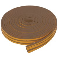 Fixman Self Adhesive P-Profile Draught Weather Strip Brown 15m