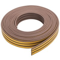 Fixman Self Adhesive E-Profile Draught Weather Strip Brown 15m