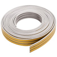 Fixman Self Adhesive E-Profile Draught Weather Strip White 15m