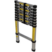Silverline Telescopic Ladder 9 Rung Lightweight Aluminium